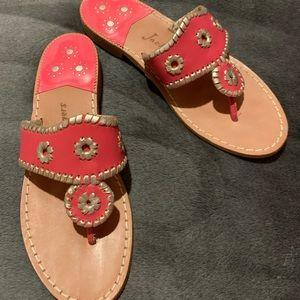 Jack Rogers Pink & Gold Sandals